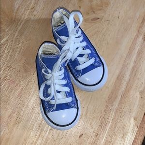 Kids unisex Converse All Star Shoes 6 Blue Hightop